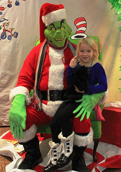 Cute Little Girl With Grinch