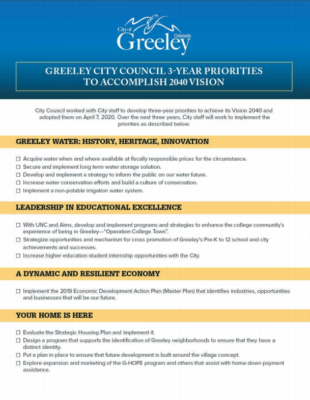City Council 3 Year Priorities Cover