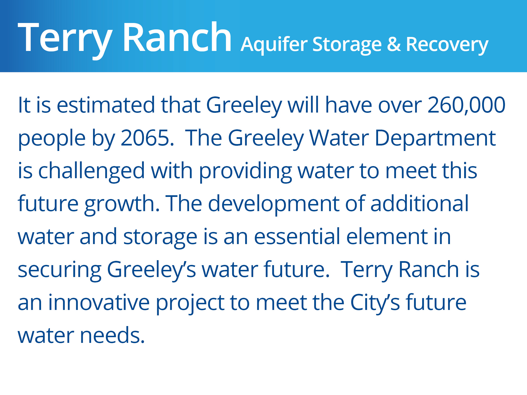 Aquifer Storage & Recovery_Terry Ranch